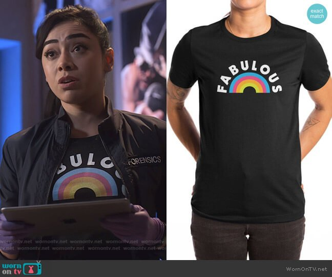 Fabulous Tee by Missaire Julieny  at Threadless worn by Ella Lopez (Aimee Garcia) on Lucifer