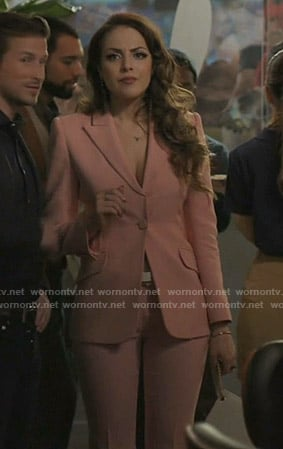 Fallon's pink suit on Dynasty