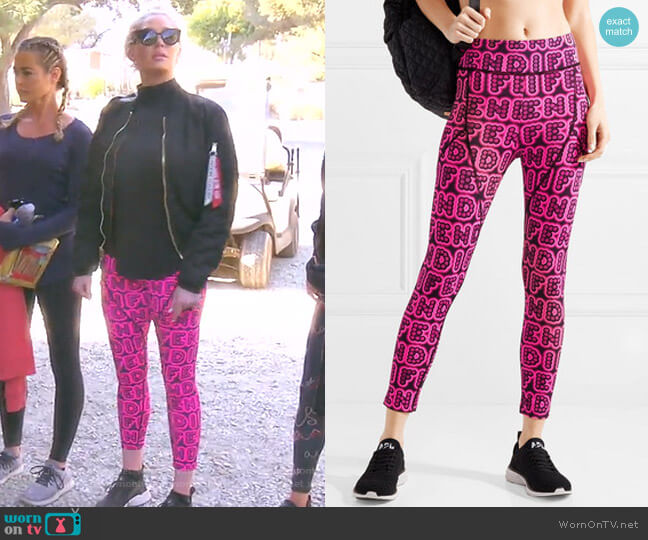 Printed Stretch Leggings by Fendi worn by Erika Girardi  on The Real Housewives of Beverly Hills