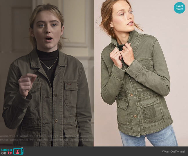 Field Jacket by Anthropologie worn by Allie Pressman (Kathryn Newton) on The Society