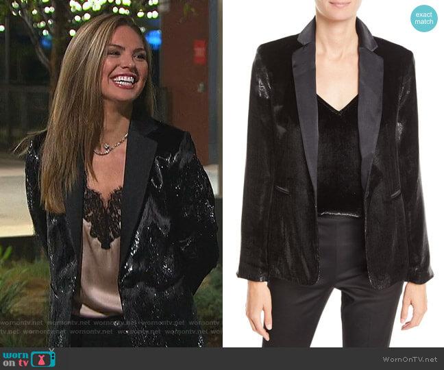 Metallic Satin Single-Button Blazer by Frame worn by Hannah Brown  on The Bachelorette