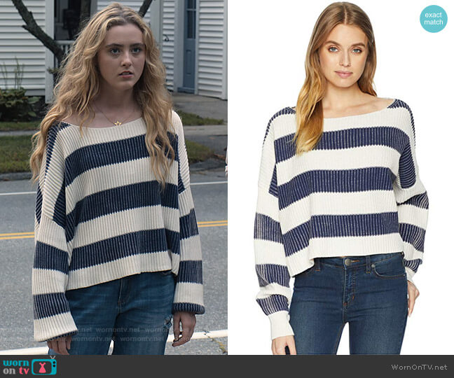 Just My Stripe Pullover by Free People  worn by Allie Pressman (Kathryn Newton) on The Society