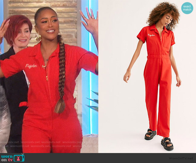 Let's Dance Coveralls by Free People worn by Eve  on The Talk