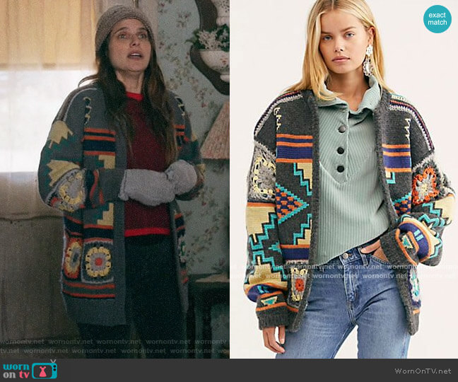 Free People Santa Rosa Cardi worn by Rio (Lake Bell) on Bless This Mess