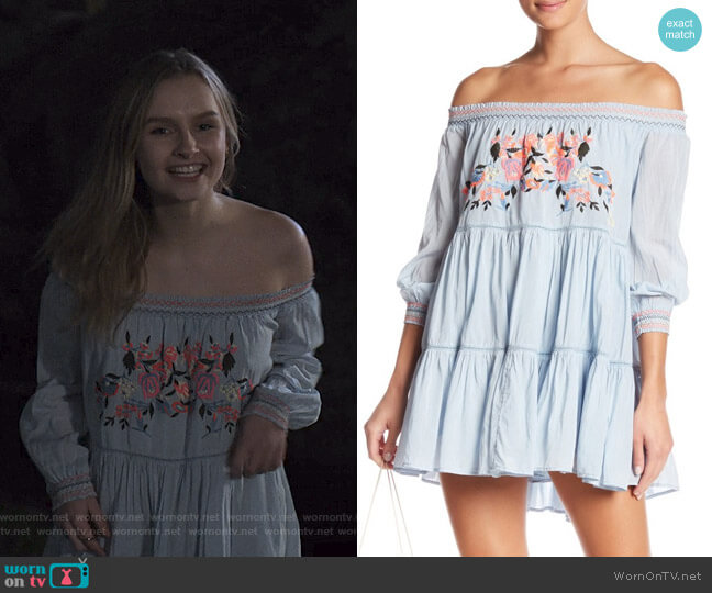 Sunbeams Minidress by Free People worn by Elle (Olivia DeJone) on The Society