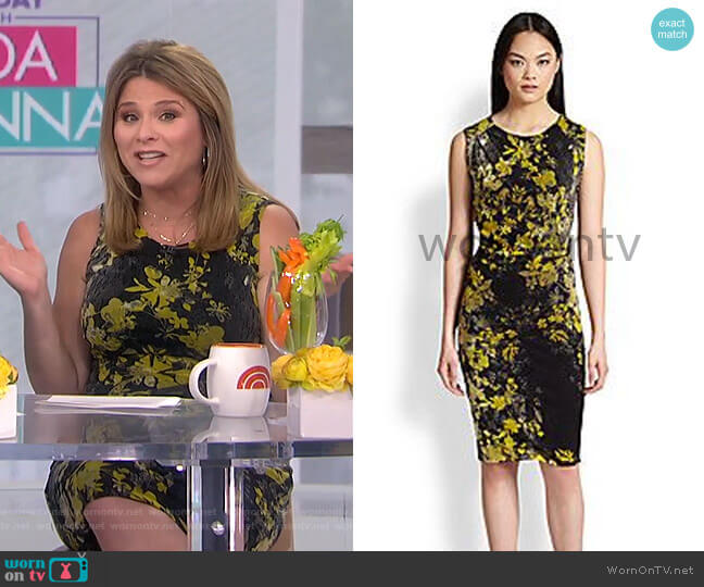 Multi-Floral Print Dress by Fuzzi worn by Jenna Bush Hager  on Today