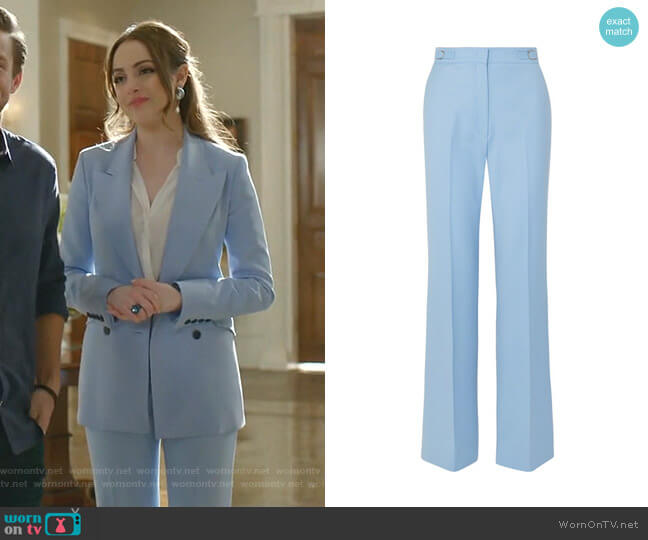 Vesta Pants by Gabriela Hearst worn by Fallon Carrington (Elizabeth Gillies) on Dynasty