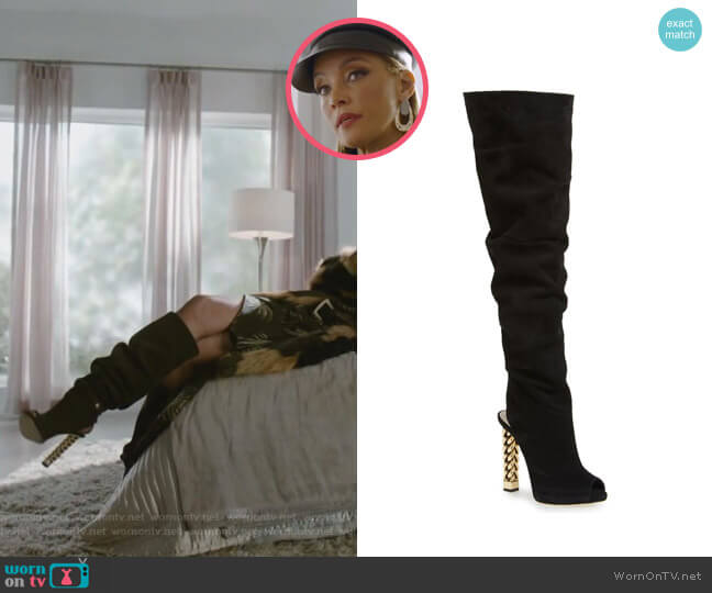 Elinor Boots by Guiseppe Zanotti x Rita Ora worn by Dominique Deveraux (Michael Michele) on Dynasty