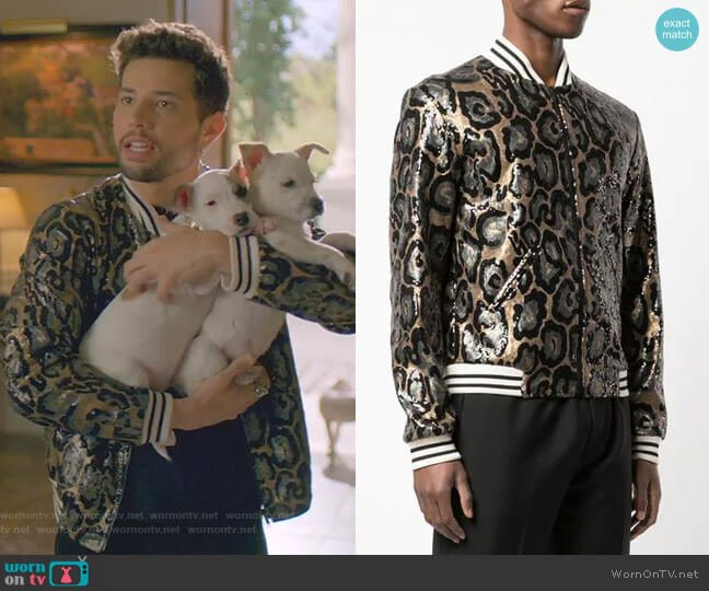 Collins Bomber Jacket by Garcons Infideles  worn by Sam Flores (Rafael de la Fuente) on Dynasty