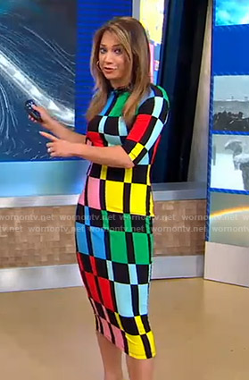 Ginger's colorblock dress on Good Morning America