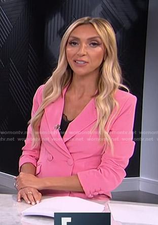 Giuliana's pink blazer dress on E! News