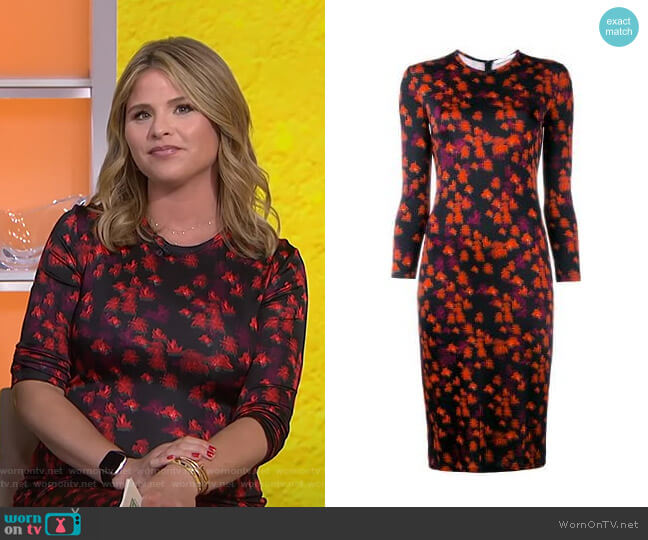 Abstract Floral Print Dress by Givenchy worn by Jenna Bush Hager  on Today