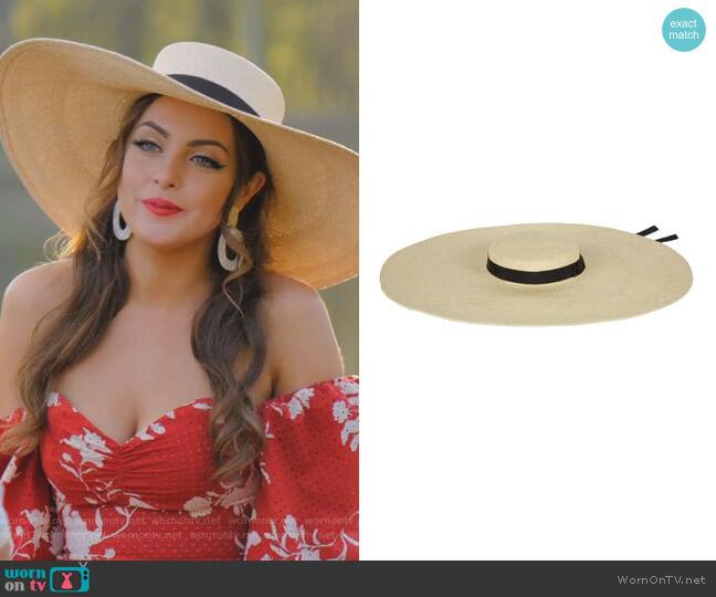 Elizabeth Hat by Gladys Tamez Millinery worn by Fallon Carrington (Elizabeth Gillies) on Dynasty