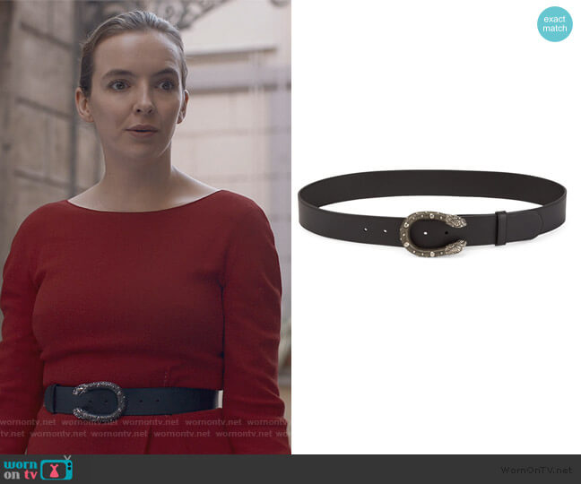 Dionysus Leather Belt by Gucci worn by Villanelle (Jodie Comer) on Killing Eve