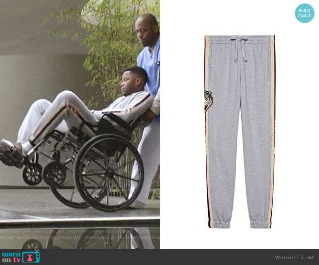 Gucci Stripe Cotton Jogging Pant by Gucci worn by Jeff Colby (Sam Adegoke) on Dynasty