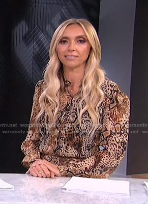 Giuliana's animal print mini dress on E! News
