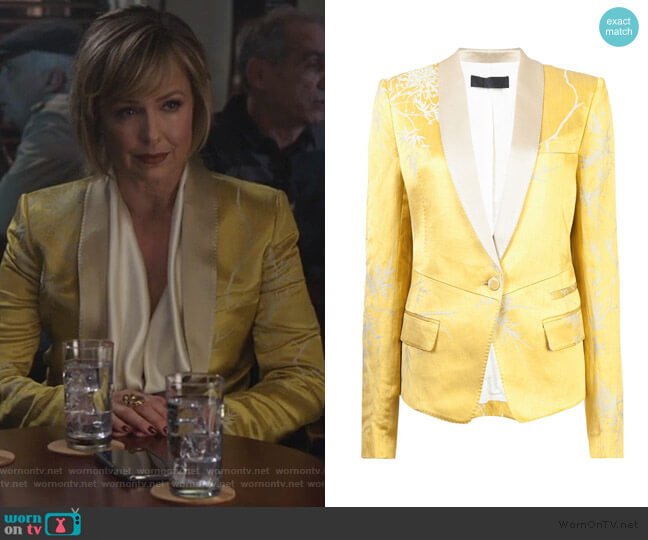 Shawl Collar Blazer by Haider Ackermann worn by Jacqueline (Melora Hardin) on The Bold Type