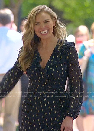 Hannah's metallic star print dress  on The Bachelorette