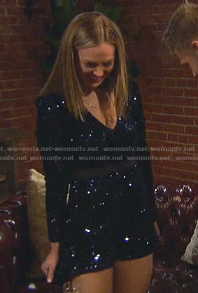 Hannah's sequin romper on The Bachelorette