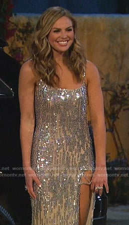 Hannah's sequin slit gown on The Bachelorette