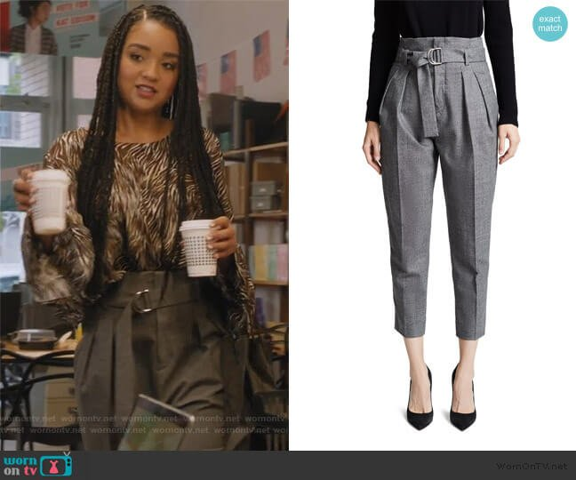 Time Pants by IRO worn by Kat Edison (Aisha Dee) on The Bold Type