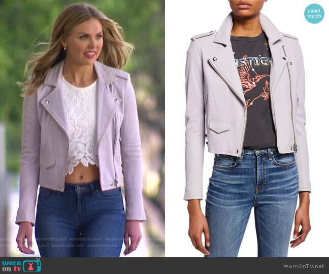 Ashville Leather Jacket by IRO  worn by Hannah Brown  on The Bachelorette
