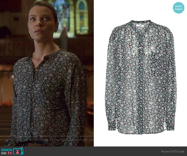 Jaws printed shirt by Isabel Marant Etoile worn by Chloe Decker (Lauren German) on Lucifer