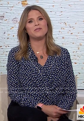 Jenna's blue printed top on Today