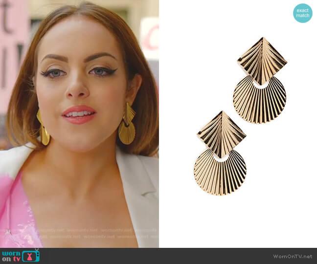 Giovanna Earrings by Jennifer Behr worn by Fallon Carrington (Elizabeth Gillies) on Dynasty