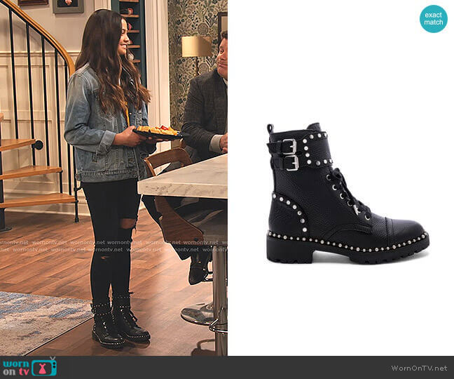 Jennifer Boots by Sam Edelman worn by Nick (Siena Agudong) on No Good Nick