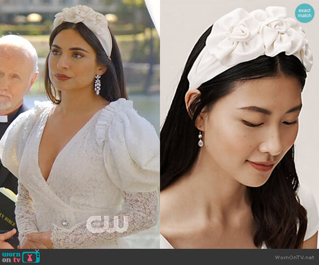 osette Headband by Jennifer Behr worn by Cristal Jennings (Daniella Alonso) on Dynasty
