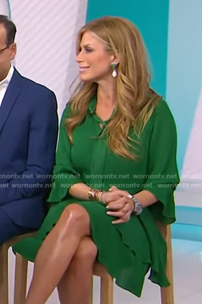 Jill's green tie-neck dress on Today