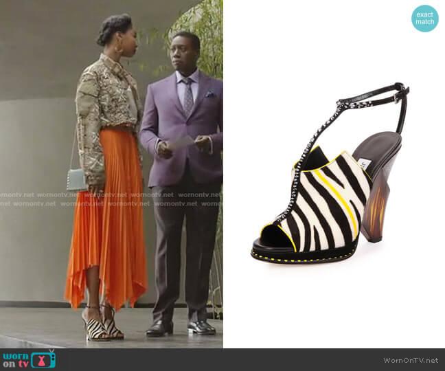 Kascade Wedge Sandal by Jimmy Choo worn by Monica Colby (Wakeema Hollis) on Dynasty