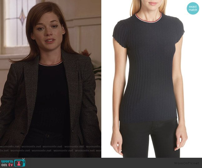 Filana B Ringer Rib Knit Sweater by Joie worn by Lisa Donovan (Jane Levy) on What/If