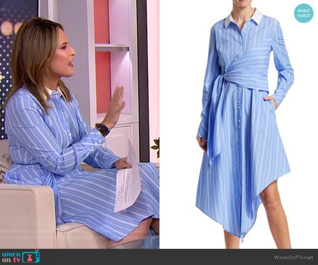 Asymmetric Oxford Wrap Dress by Jonathan Simkhai worn by Savannah Guthrie  on Today