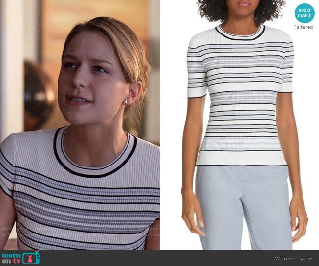 Judith & Charles Andante Stripe Sweater worn by Kara Danvers (Melissa Benoist) on Supergirl