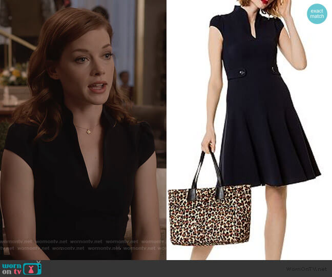 Military Fit-And-Flare Dress by Karen Millen worn by Lisa Donovan (Jane Levy) on What/If