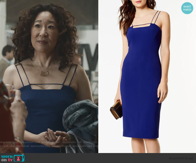 Strappy Pencil Dress by Karen Millen worn by Eve Polastri (Sandra Oh) on Killing Eve