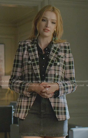 kirby's pink plaid blazer on Dynasty