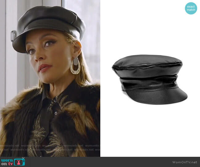 Biker Leather Cap by Lack of Color worn by Dominique Deveraux (Michael Michele) on Dynasty