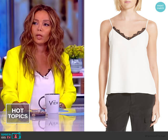 Lia Lace Camisole by L'Agence worn by Sunny Hostin  on The View