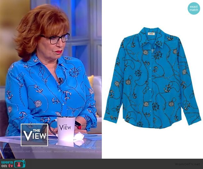 Nina Blouse by L'Agence worn by Joy Behar  on The View