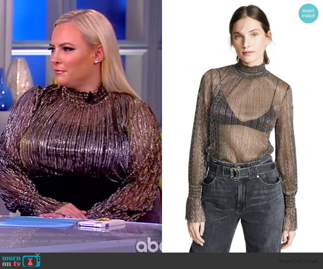 Paola Turtleneck Blouse by L'Agence worn by Meghan McCain (Meghan McCain) on The View