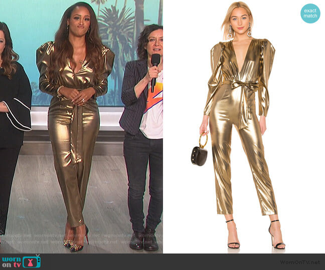 Aurelia Jumpsuit by LPA worn by Eve  on The Talk