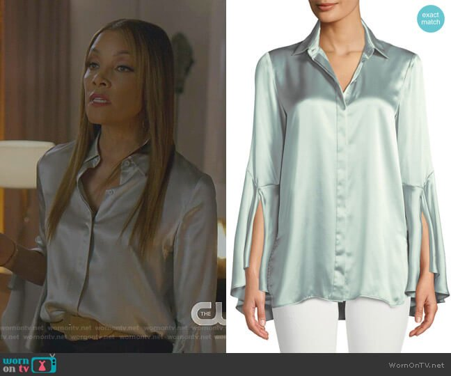 Cartolina Blouse by Lafayette 148 New York worn by Dominique Deveraux (Michael Michele) on Dynasty
