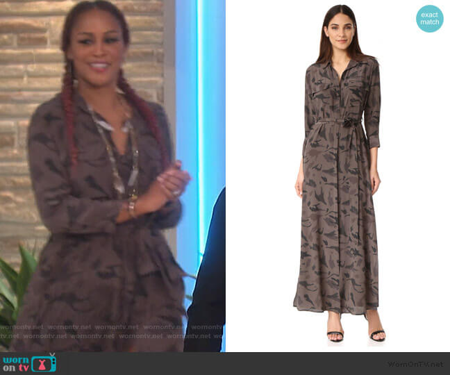 Cameron Long Shirtdress by L'Agence worn by Eve  on The Talk