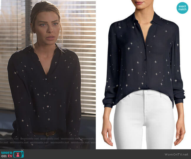 Nina Blouse by L'Agance worn by Chloe Decker (Lauren German) on Lucifer