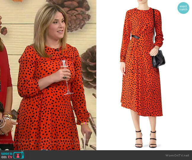 Lawton Dress by Hunter Bell worn by Jenna Bush Hager  on Today
