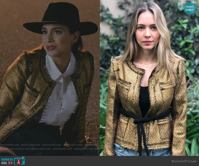 Deneb Blazer by Lecmost & Lola worn by Cristal Jennings (Ana Brenda Contreras) on Dynasty