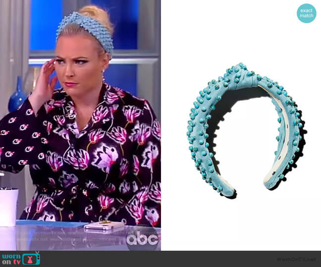 Beaded Knot Headband  by Lele Sadoughi worn by Meghan McCain  on The View